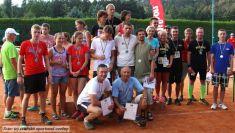 II. zručský štafetový maraton, 7týmů, tenisové kurty, 2015