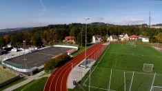Letecké snímky - Sportovní areál 20. 10. 2014